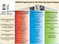 Das Dr. Max Näedergmnasium in Königsee ist Mitglied des Netzwerkes der UNESCO-Projektschulen